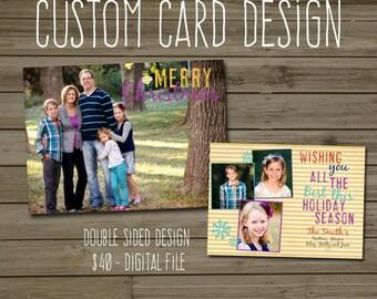 Custom Card Design - Double Sided
