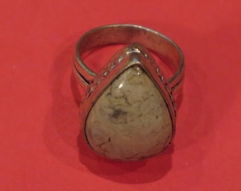 Ring - Large Agate/Marble Bezel