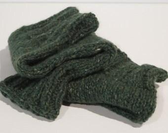 Green leg warmers - Great Color of Green - Warm - Mixed fibers