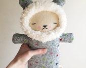 Kawaii Sugarloaf Teddy Bear Polka Dot Parka Knit Large