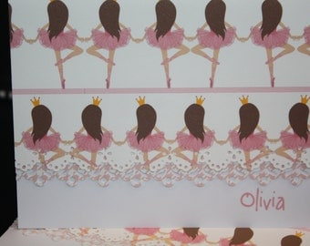 Perfectly poised Ballet themed Note Cards - set of 5