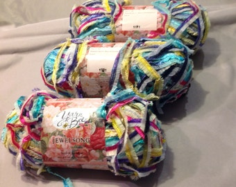 3-  skeins Yarn bee Jewelsong bird of paradise yarn