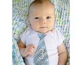Monthly Boy Tie Stickers, Baby Announcement, Monthly Baby Stickers, Monthly Photos, Baby Gift, First Year Photo Prop, Blues (BF041)