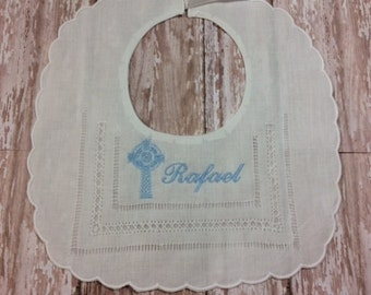 Personalized Baptism Christening Bib for Baby Girl or Boy A Custom Heirloom for A Special Occasion with Custom Monogramming