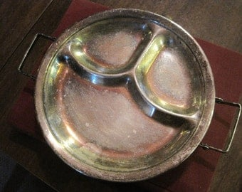 Silverplated Divided Baby Warming Dish