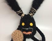 FF Inspired Spriggan with Boulder / Handmade Crochet Plush Toy Amigurumi / Video Game Plush