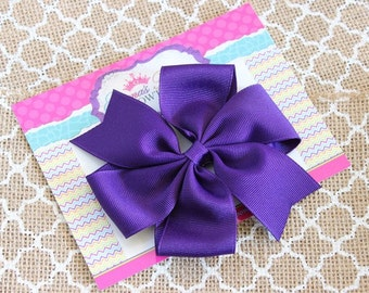 Baby Bows, Toddler Bows, Girls Hair Bows, Boutique Hair Bows, Hair Clips, Purple Hair Bow Headband, Pinwheel Hair Bow, 4 Inch Bows