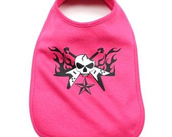 Multicolor Guitar Hero Infant Baby Soft 100% Cotton Bibs
