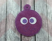 Scared Emotion Ornament, Christmas ornament, Purple Fear, Face Ornament