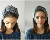 CROCHET PATTERN  Lace Turban and Warmers PDF Pattern- crochet headband, warmers, crochet turban, cuffs, a photo tutorial scarf shoulderette,