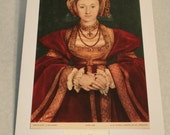 """1937 Art Print """"Anne of Cleves"""" by Hans Holbein"""