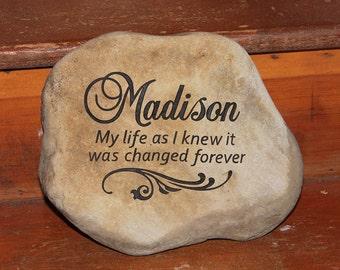 Hand Engraved Rock - Custom Garden Stones SMALL