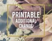 Additional Change