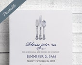 Printable Rehearsal Dinner Invitations