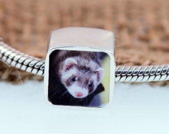 Ferret Love - Personalized Photo Charm