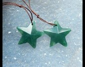 Moss Agate Gemstone Faceted Star Earring Bead,20x5mm,3.61g