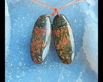 Multi-Color Picasso Jasper Earring Bead,41x16x6mm,13.4g