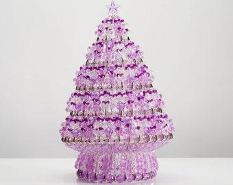 Sugarplum - Handcrafted Beaded Christmas Tree with Lights