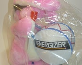 "Vintage Pink Energizer Bunny Plush Stuffed Toy – Large 20"" -  Brand New - 1989"