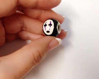 GUO GUO'S - Spirited Away movie Inspired No Face European style large Hole Bead Charm / Made to order