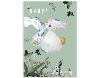 Baby card with matching envelope