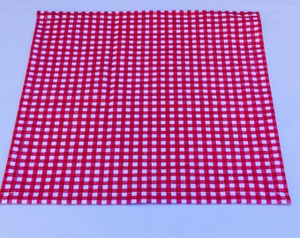 Red and White Table Square, Checkered Table Square, Party, Shower, Wedding, Custom Sizes Available