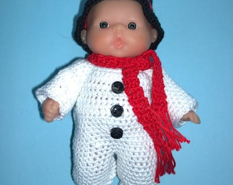 "5"" Lots To Love Doll Snowman Outfit"