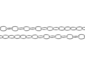 Sterling Silver 3.5x2.5mm Cable Chain - 5ft (2483-5)/1