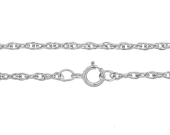 925 Stamped Sterling Silver 1.4mm 16Inch Rope Chain - 1pc (3006)/1