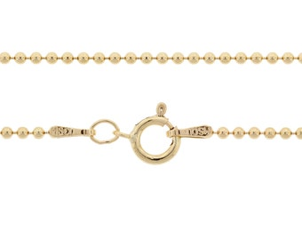 Ball Chain with clasp 14Kt Gold Filled 1.5mm 20 Inch  - 1pc Neck chain (3083)/1