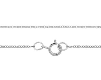 Neckchain, Cable Chain, Sterling Silver, 1.2mm 20 Inch - 5pcs (3339)/5