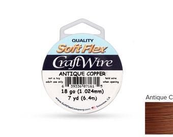 Craft Wire Soft Flex 18gauge Non Tarnish Antique Copper wire 7 Yards - 1 Spool Discounted Price (3600)/1