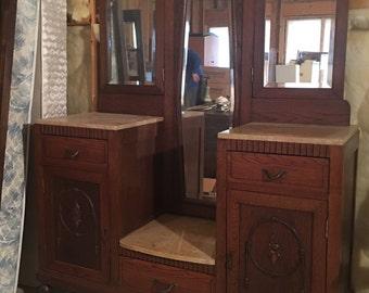 Antique Belguim Oak Vanity