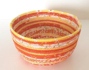 Orange Fabric Rope Bowl - Medium