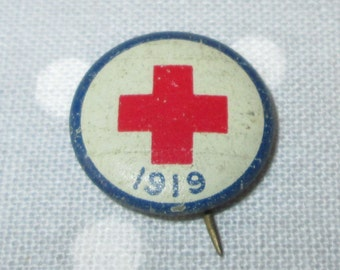 Vintage 1919 Red Cross Pin WWI World War I Collectible