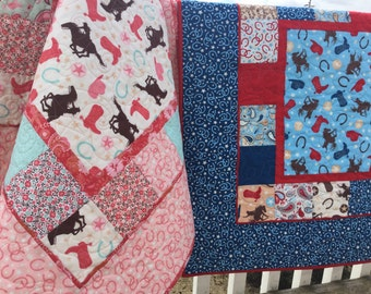 Baby Girl Complete Quilt KIT Rodeo Rider By Riley Blake