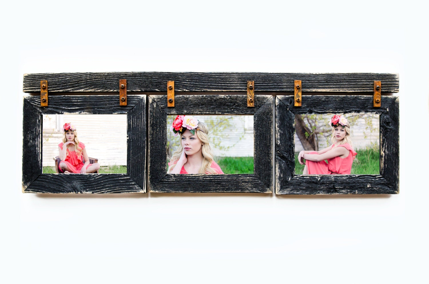 Barnwood Collage Frame 3 Hole 8x10 Multi Opening Frame