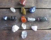 Crystal set 15 GEMSTONES wiccan crystals witchcraft gemstones crystal grid wicca wiccan pagan witchcraft kit magick supplies occult