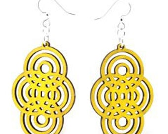 Overlapping Circles - Wood Earrings