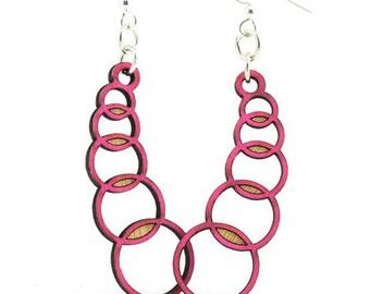 Venn Circle Earrings-Wooden Earrings