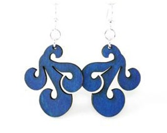 Wave Set Design - Laser Cut Earrings From Sustainable Materials