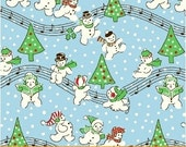 Storybook Christmas Blue Singing Snowmen 41752-4 by Whistler Studios for Windham Fabrics