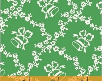 Storybook Christmas Green Lattice with Bells 41746-2 by Whistler Studios for Windham Fabrics