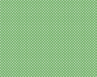 Basic Pin Dots in Green by In The Beginning Fabrics