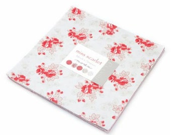 Miss Scarlet Layer Cake  by Minick & Simpson for Moda