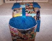 Scrap Bag Pincushion Organizer - Scrap bag - Thread Catcher - Snippets - Needlework Scrap Bag - Snippets Basket