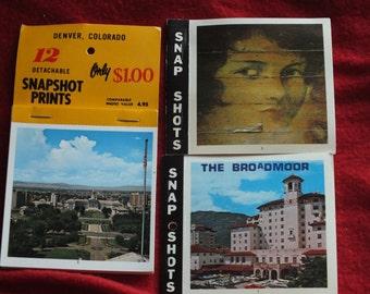 3 Vintage Sets of Colorado Snapshot Prints - 12 Snapshots of Denver, 10 Snap Shots of The Broadmoor, 10 Snap Shots of Central City, CO