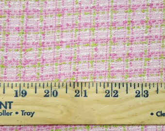 Pink, lime and White Boucle