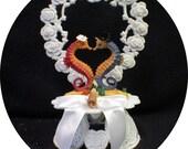 Romantic Seahorse Beach Wedding Cake Topper Tropical Fish Ocean Theme Groom top