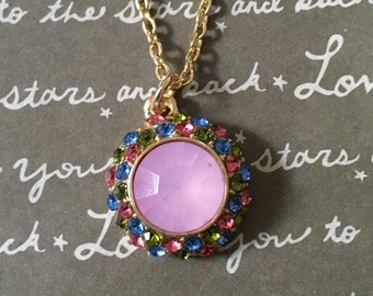 Gorgeous pink crystal necklace